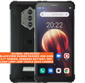 "BLACKVIEW BV6600 RUGGED 4gb 64gb Waterproof 5.7"" Fingerprint NFC Android Black"