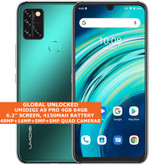 "UMIDIGI A9 PRO Non-Contact Thermometer 4gb 64gb Octa Core 6.3"" Android 10 Green"