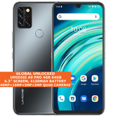 "UMIDIGI A9 PRO Non-Contact Thermometer 4gb 64gb Octa Core 6.3"" Android 10 Black"