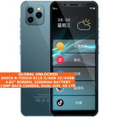 "ANICA K-TOUCH S11S 6gb 64gb Quad Core 4.8"" Face Id Dual Sim Android 9.0 4g Blue"