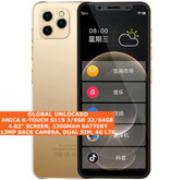 "ANICA K-TOUCH S11S 6gb 64gb Quad Core 4.8"" Face Id Dual Sim Android 9.0 4g Gold"
