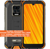 "DOOGEE S59 PRO RUGGED 4gb 128gb Octa Core 5.71"" Fingerprint Android Orange"