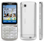 nokia c series c3-01 - rm-640 silver unlocked touch & type phone + free gifts
