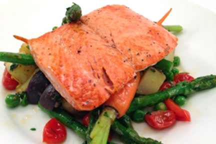Copper River Salmon With Spring Vegetables
