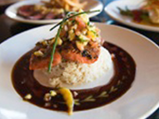 Copper River King Salmon With Soy Ginger Glaze Tropical Fruit Relish