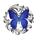 Baroque Butterfly Blue Triangle