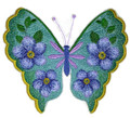 Watercolor Forget Me Not Butterfly