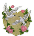 Love Doves With Heart