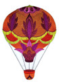 Flaming Bright Jacobean Balloon