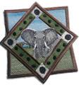 African Elephant Track Portrait