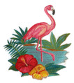 Flamingo and Hibiscus in Watercolor