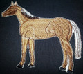 Quarter Horse Embroidered Iron On Patch