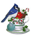 Blue Jay and Christmas Tea