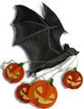 Flying Bat with Jack-o-Lanterns