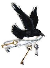 Flying Raven With Skeleton Keys
