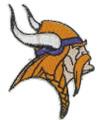 Minnesota Vikings Iron On Patches
