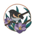 American Redstart and Crocus Circle