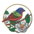 Painted Bunting and Magnolia Circle