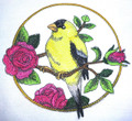 Goldfinch And Rose Circle