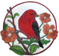 Scarlet Tanager And Cosmos Circle