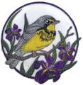 Canada Warbler And Iris Circle