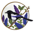 Black Throated Blue Warbler And Mayflowers