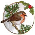 European Robin In Circle