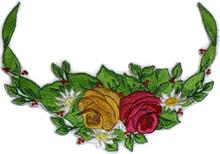 Rose In Half Circle