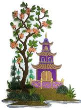 Chinoiserie Pagoda Panel