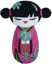 Kokeshi And Flower Bouquet