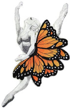 Ballerina Dancer With Butterflies