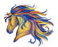 Vibrant Horse in Watercolor