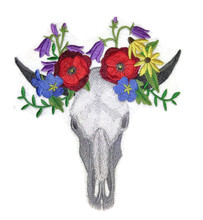 Skull in Wildflowers