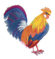Vibrant Rooster in Watercolor
