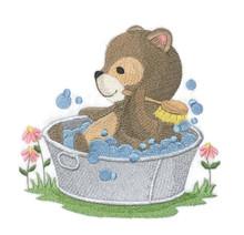 Woodland Bath Time -Bear
