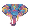 Vibrant Elephant in Watercolor