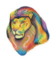 Vibrant Lion in Watercolor