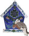 Rosemaling Birdhouse With Eurasian Dotterel
