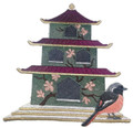 Japanese Birdhouse With Daurian Redstart