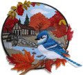 Country Autumn Blue Jay And Mill