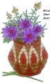 African Flower Basket