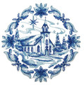 Delft Blue Christmas Church