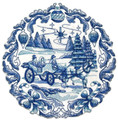 Delft Blue Christmas Carriage