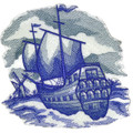 Delft Blue Sailing Ship