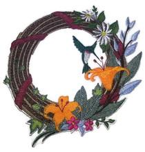 ;Hummingbird And Flower Wreath