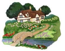 English Cottage Garden Scene