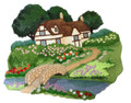 English Cottage Garden Scene
