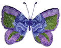 Watercolor Blue Rose Butterfly