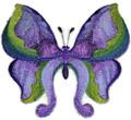 Watercolor Iris Butterfly