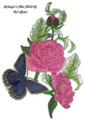 Meleager's Blue Butterfly And Roses